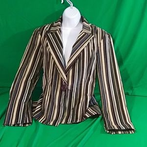 Neiman marcus exclusive sz 8 striped blazer
